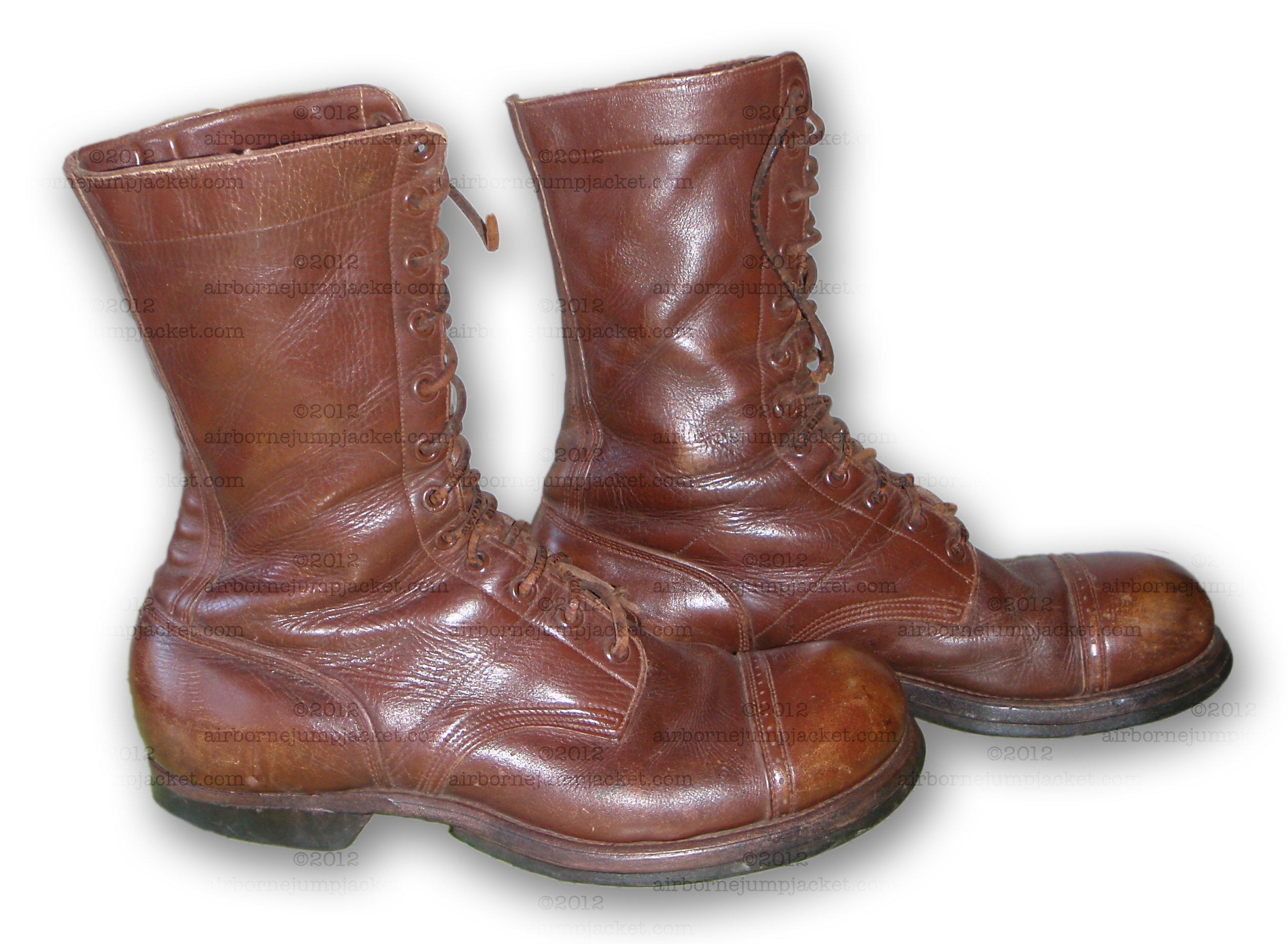 Wwii Us Airborne Paratrooper Jump Boots Dated 1942