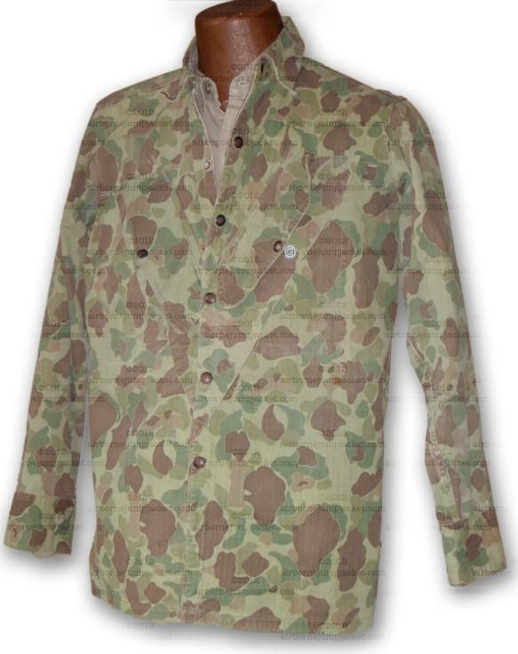 WWII USMC Paramarine camouflage shirt front