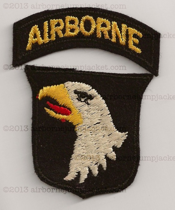 World War Two 101st Airborne Division Patch British Theater Made Front