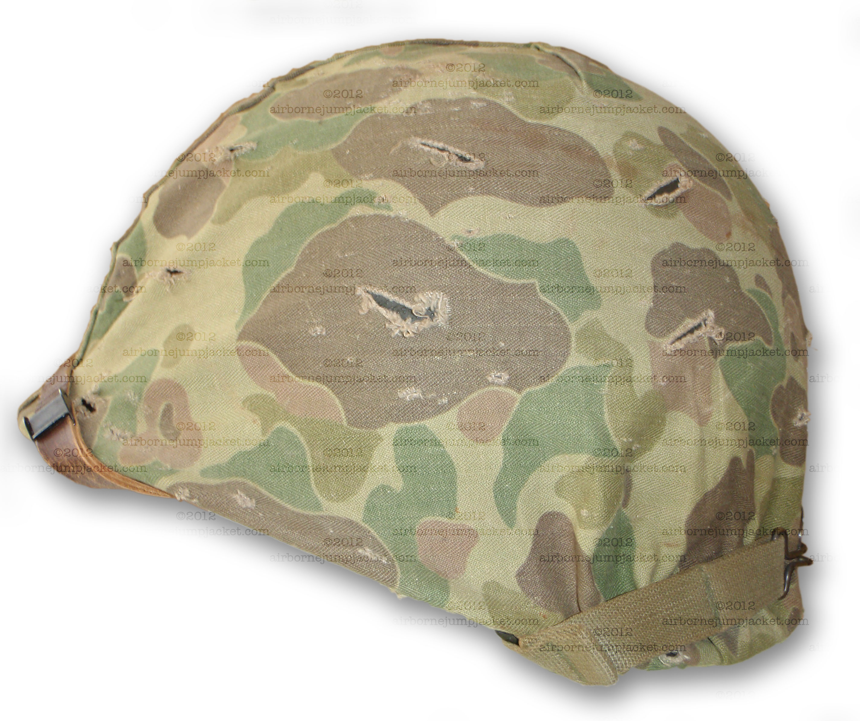 wwii usmc m1 fixed bale helmet with marine camouflage cover