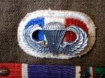 506th PIR Oval and Jump Wings on a C Company, 506th PIR Uniform