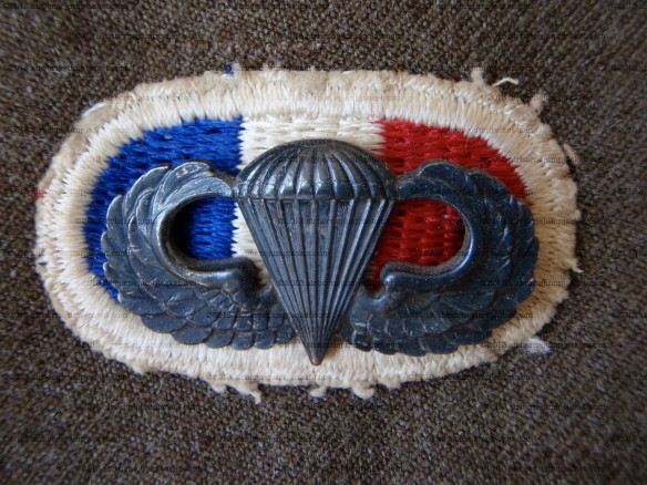 506th PIR Oval and Jump Wings on a G Company, 506 PIR Uniform