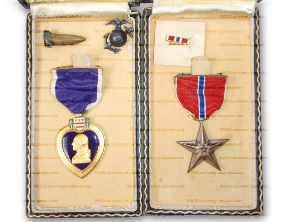 WW2 USMC and USN Style of Purple Heart and Bronze Star Medal
