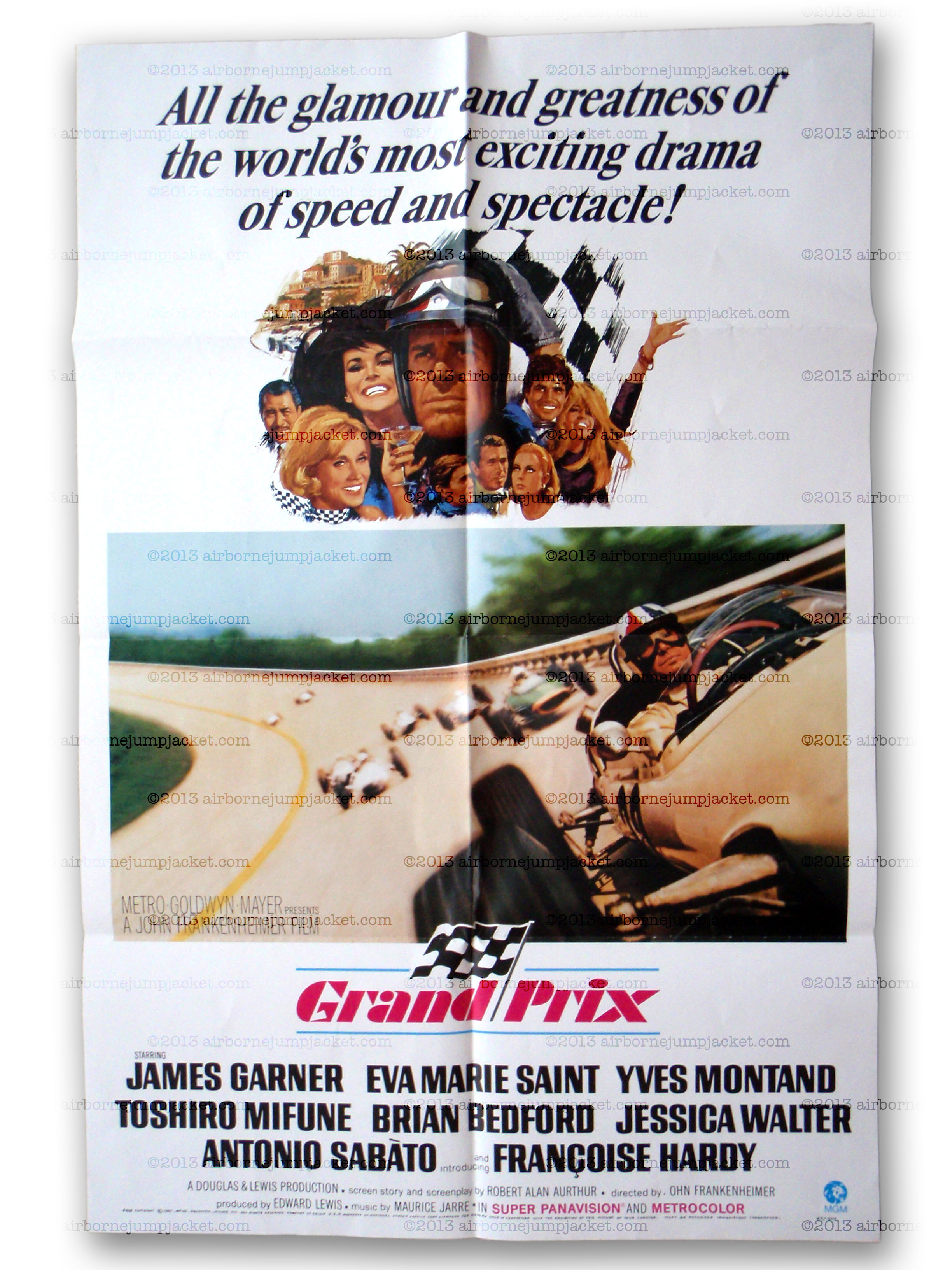original 1967 movie poster from grand prix  u2013 the formula 1