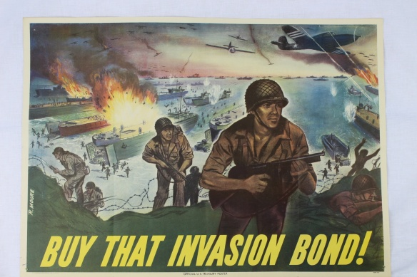 WW2 Buy That Invasion Bond D-Day Poster